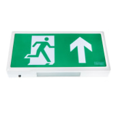 Alpine LED Emergency Exit Sign - White - with Up Arrow)