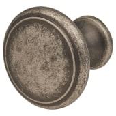 Thorpe Cabinet Knob - 30mm Diameter - Antique Pewter)