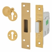 Legge Heavy Duty BS3621:2007 5 Lever Deadlock - 76mm Case - 57mm Backset - Polished Brass)