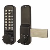 Borglocks BL2605 External Marine Grade Code Operated Mechanical Deadbolt - Black)