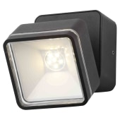 Stanley Square Adjustable LED Wall Light - Black)