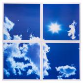 ENER-J 40W 3D Sky Cloud LED Panel 600 x 600mm - Pack 4)