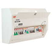 Contactum 10 Way 100A High Integrity Consumer Unit with 10 MCBs and SPD)
