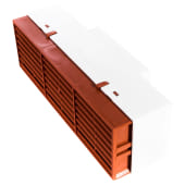 Rytons Multifix Air Brick with Adaptor for 110mm x 54mm Ducting - Terracotta)