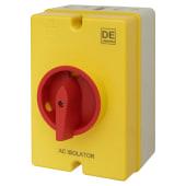 Hylec 25AC - 4 Pole Rotary Isolator Switch - IP66)