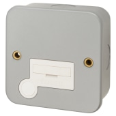 Click Scolmore 13A Metal Clad Unswitched Spur - Grey)