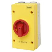 Hylec 80AC - 4 Pole Rotary Isolator Switch - IP66)