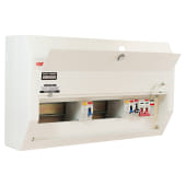 Contactum 12 Way 100A High Integrity Consumer Unit with SPD - 80A RCD)