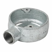 Steel Conduit Skeleton Terminal Box - 20mm - Galvanised)