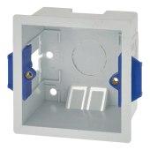 BG 1 Gang Dry Line Double Skinned Box - 47mm - White)