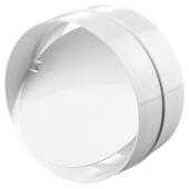 Blauberg Plastic Circular In-line Back Draught Shutter - 125mm)