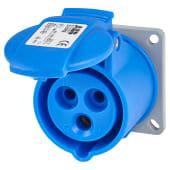 ABB 16A 3 Pin Splashproof Socket Outlet  - Blue)