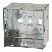 1 Gang Back Box with Knockout - 47mm - Galvanised)