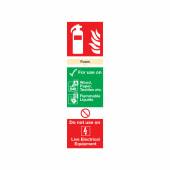 Fire Extinguisher Sign - Foam - 300 x 100mm - Rigid Plastic)