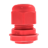 Unicrimp Nylon Cable Gland - 12mm - Red - Pack 10)