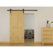 KLUG Barn Strap Sliding Door Gear with 80-100kg Soft Open/Close - Black)