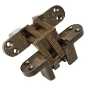 Tago Concealed Hinge - 117 x 29mm - Antique Brass - Pair)