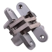 Tago Concealed Hinge - 117 x 25mm - Satin Chrome - Pair)
