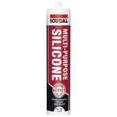 Soudal Multi-Purpose Silicone - 270ml - Brilliant White)