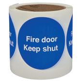 Self Adhesive Vinyl Labels - Fire Door Keep Shut)