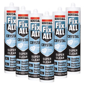 Soudal Fix All Crystal - 290ml - Clear - Promo 6 Pack )