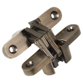 Tago Concealed Hinge - 70 x 16mm - Antique Brass - Pair)