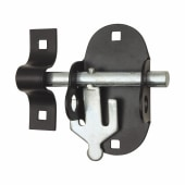 Brenton Upright Oval Padlock Bolt - 95mm - Black Japanned)