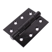Stainless Steel Twin Ball Bearing Coloured Hinge - 102 x 76 x 3mm - Black Powder Coated - Pair)