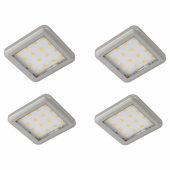 Sensio Largo LED Plinth Lights - Square - Warm White - Includes Driver - Pack 4)