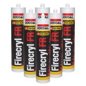Soudal Firecryl FR - Trade Multi-pack - 310ml - White - Pack 6)