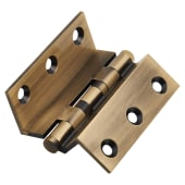 Cranked Ball Bearing Hinge - 64 x 2.5mm - Antique Brass - Pair)