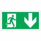 Running Man Down - 150 x 300mm - Rigid Plastic)
