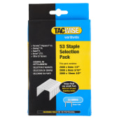 Tacwise 53 Series Staples (JT21, TR45/69/ST10, 53)  - Selection Pack - Galvanised - Pack 6000)