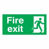 Fire Exit Man Right - 150 x 300mm - Rigid Plastic)