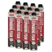 Soudal Gap Filler Expanding Foam Trade Pack - Gun Grade - 750ml - Pack 12)