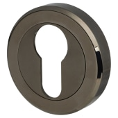 Carlisle Brass Escutcheon - Euro - Black Nickel)