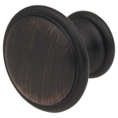 Touchpoint Rim Cabinet Knob - 30mm Diameter - Brushed Oil Rubbed Bronze)