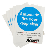 Agrippa Holder Fire Door Stickers - Pack 5)
