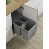 Soft Close Pull Out Waste Bin - Cabinet Width 400mm - 2 x 10L + 1 x 20L)