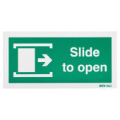 Nite Glo Slide to Open Right - 100 x 200mm)