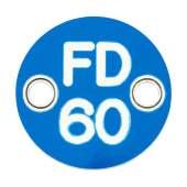 FD60 Door Sign Drilled - 25mm - Blue)