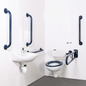 Nymas NymaPRO Wall Hung Doc M pack - Exposed Fixings - White)