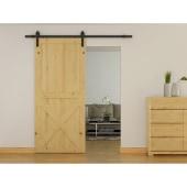 KLUG Barn Strap Sliding Door Gear with 60-80kg Soft Open/Close - Black)