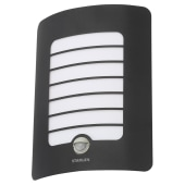 Stanley Panel Wall Light with PIR - Black)