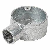 Steel Conduit Terminal Box - 25mm - Galvanised)