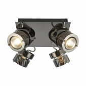 Pedro Square Spotlight - 4 Light - Black Chrome )