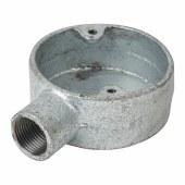 Steel Conduit Terminal Box - 20mm - Galvanised)