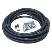 Univolt Flexible Conduit Contractor Pack with 10 Glands - 25mm x 10m - Black)