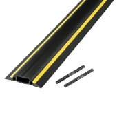 D-Line Medium Duty Linkable Floor Cable Protector - 14 x 83mm x 9m Channel - Black & Yellow)