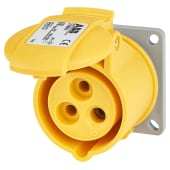 ABB 16A 2 Pin and Earth Splashproof Socket Outlet - Yellow)